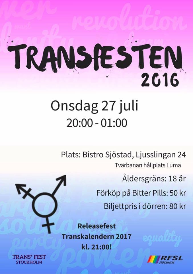Poster Transfesten 2016